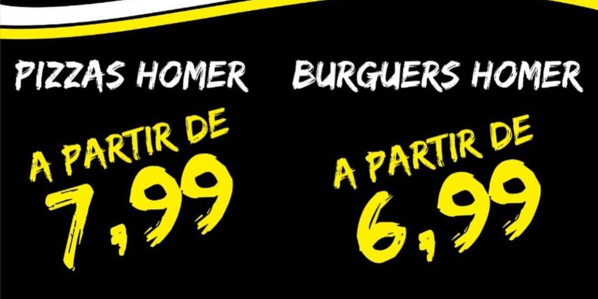 Homer Pizza Burguer